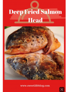 Deep Fried Salmon Head