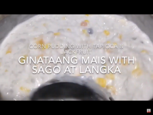 Ginataang Mais with Sago at Langka